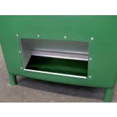 Streugutbehälter 210l | o.Entnahmeöffnung HDPE L790xB605xH775mm Behälter grün/Deckel orange