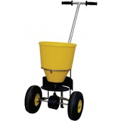 Streugutwagen 20l | Streubreite 1-4m Ku.-Behälter gelb luftbereift Cemo m.Streumengenregler