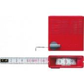 Taschenrollbandmaß L.2m | in/out B.13mm weiß m.Stopptaste BMI Genauigk.II m.Sichtfenster