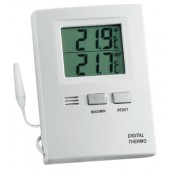 Thermometer Max./Min.   umstellb. Grad C/Grad F Ku. weiß elektronisch H85xB60xT15mm inkl. Batterien