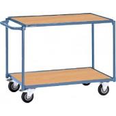 Tischwagen 2 Ladeflächen | Schiebebügel waagerecht PROMAT Trgf.250kg L850xB500mm Etagenhöhen 200/820mm