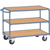 Tischwagen 3 Ladeflächen | Schiebebügel waagerecht PROMAT Trgf.250kg L850xB500mm Etagenhöhen 200/510/820mm