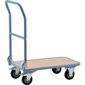 Transportwagen Ladefläche | L720xB450mm Holzwerkstoff Stahlrohr RAL 5014 Trgf. 150 kg PROMAT Klappbügel