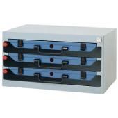 Tresor 3F stapelbar | 555x350x290mm f.Sortimentskasten DINZL m.Schaumstoff f.3x871494