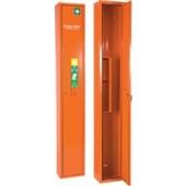 Verbandschrank orange | 300x2000x200mm Feinblech SÖHNGEN abschließbar 1türig f.Krankentrage