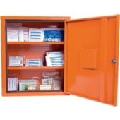 Verbandschrank orange | Eurosafe 490x560x200mm Feinblech SÖHNGEN abschließbar 1türig 3Innenfächer