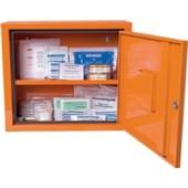 Verbandschrank orange | Juniorsafe 490x420x200mm Feinblech SÖHNGEN abschließbar 1türig 2Innenfächer