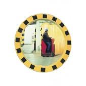 Verkehrsspiegel | D.600mm Beobachterabstand 11m f.innen u.außen gelb m.schwarzen Streifen