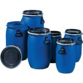 Weithalsfass 30l | D.310xH.510mm blau Einfüllöffnung-D.255mm