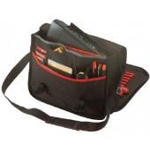 Werkzeugtasche   schwarz/rot 320x400x130mm Tragegurt