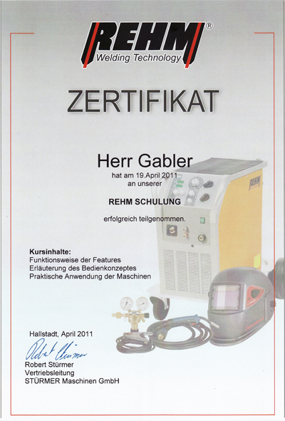 REHM-Zertifikat