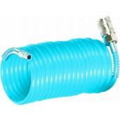 Spiralschlauch 5m,6mm,10bar mit Kupplung und Tülle